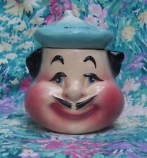 VTG AMERICAN BISQUE RELISH FRENCH MAN CONDIMENT JAR POT Container