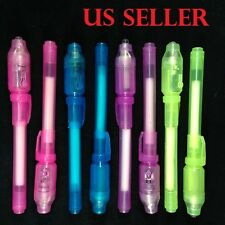 50pcs Invisible Pen with Built in UV Light Magic Marker Secret Message +20 Free