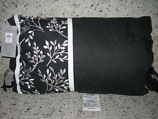 "Royal Heritage Home ''Clermont"" ; 1Pc Throw Pillow 12""x18"" Oblong Black/White Nwt"