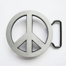 Peace Sign Symbol Belt Buckle