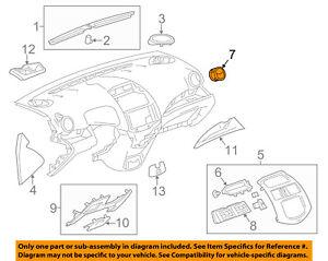 Chevrolet GM OEM 13-15 Spark Instrument Panel-Air Outlet 94564445