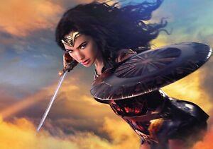 WONDER WOMAN Movie PHOTO Print POSTER Film Art Gal Gadot Dawn Of Justice 012
