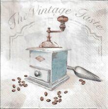 Lot de 4 Serviettes en papier Moulin à Café Vintage Decoupage Decopatch