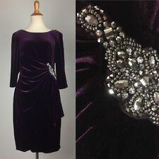 Gatsby 1920s 1930s flapper dress NEW purple Size 6 petite Velvet costume