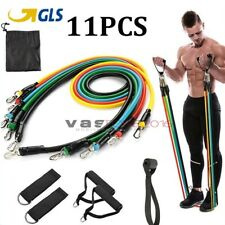 11 Kit Fasce Elastiche Bande Allenamento Fitness Elastici Palestra Resistenza IT