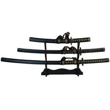 Japanese Katana Samurai Swords Angel of Death Set of 3 with Stand