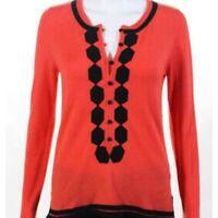 Milly New York orange sweater tunic size small