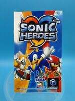 jeu video notice BE nintendo gamecube FRA sonic heroes
