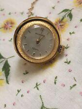 Vintage Swiss Made Gold Tone Bucherer Ball Pendant Watch