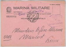 ITALIA  - FRANCHIGIA MILITARE: MARINA - Nave : TORPEDINIERA Sagittario