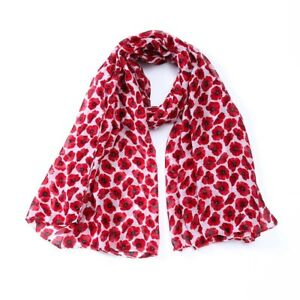 NEW Poppy Print Mini Poppy Scarf Women Fashion Soft  Lightweight Scarves  Shawl