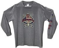 VTG TEXAS Rangers Long Sleeve Tshirt Large Gray LEE Sport VF Imagewear 2004 MLB