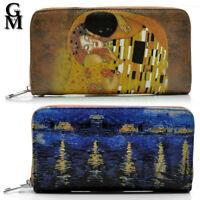 Gyoiamea Cartera Mujer Fantasía Klimt Vincent Van Ghog El Beso Pintura Arte