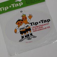 Aufkleber Tip+Tap Fußball FIFA WM 1974 DFB Lizensiertes Original Produkt oval #0