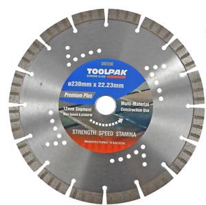 Toolpak ForceX DBX230 230mm x 22.23mm Multi-Material Diamond Blade, 12mm Turbo S
