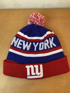 New York Giants NFL Sideline Sport Knit Winter Hat / Beanie Red White And Blue