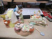 """Disney Vintage """"Snow White and the Seven Dwarfs"""" Tea Set Teapot,Creamer & Sugar"""