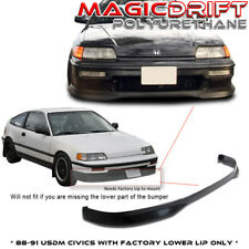 For 88 89 90 EF Honda Civic CRX Type R CTR Front Chin Spoiler Lip (Urethane)