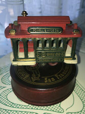 San Francisco Cable Car Wind Up Music Wooden Figurine Euc