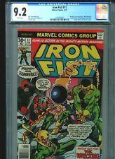 Iron Fist #11 CGC 9.2 (1977) Wrecking Crew Chris Claremont John Byrne White