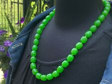 Green Lucite Beaded Necklace, ca. 1960s