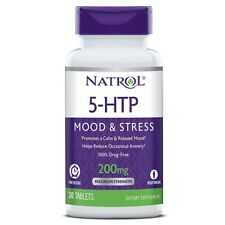 Natrol 5-HTP TR Time Release 200 mg Mood, Appetite Control 30 Tabs STRESS RELIEF