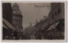 POSTCARD - High Street, Merthyr (Tydfil) Wales, shop fronts, H Samuel