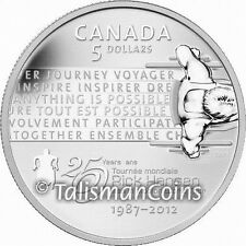 Canada 2012 Rick Hansen Wheelchair Paralympian $5 Pure Silver Proof