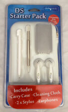 NINTENDO 3DS WHITE ACCESSORY PACK KIT EARPHONES,CARRY CASE,STYLUS,CLEANING CLOTH