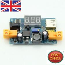 LM2596 DC-DC Adjustable Step-Down Power Converter Module+LED Voltmeter+USB Port