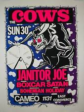 THE COWS / JANITOR JOE SIGNED NUMBERED TOUR POSTER