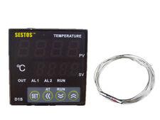 AC 110~240V SESTOS PID D1S-VR-220 digital temperature controller 40DA PT100 SSR