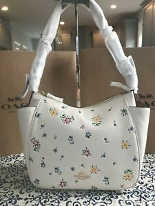 Coach Rori Shoulder Bag With Wild Meadow Print C4091 Im/Chalk Multi