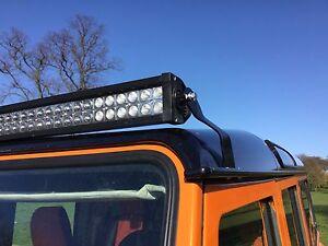 Land Rover Defender 50'' Led Light Bar Brackets Custom Made Fit Onto Gutters,