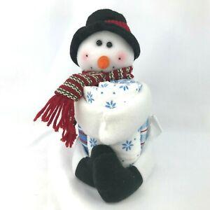 Snowman Plush Christmas Cloth Towel Set Home Decor Dish Kitchen Bathroom