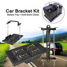Universal Car Storage Battery Holder Stabilizer Tray+ Hold Down Clamp Kit 1x hot