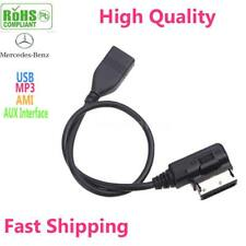 Car Media-In Audio Music USB Interface AMI AUX Adapter Cable For Mercedes-Benz