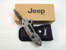 Jeep Multi-Tool Adjustable Wrench Jaw Screwdriver Plier Knife Survival Gear +Box