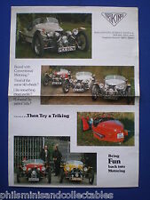 Kit Car -  TRIKING    Sales Brochure 1981