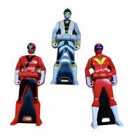 POWER RANGERS Japanese Keys Two Red Rangers And One Grey Ranger
