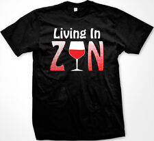 Living in Zin Funny Drinking Wine Drunk Zinfandel Gag Gift Men's T-shirt