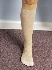 Womens Pattern Microfiber  8-15 mmhg compression knee high socks 2 pair pack