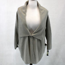 NEW NWT Margaret Winters Crunchy Cotton Boucle Knit Hoodie Beige Tan Sweater 2X