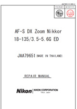 Nikon Nikkor AF-S DX 18-135mm  f3.5-5.6 G ED   Service Repair Manual