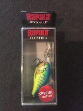 """Rapala Risto Rap PR-4 PRT Parrot1-1/2"""" 3/16oz  5-8 Feet (Finland) Black Box"""