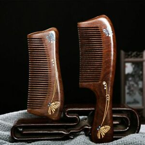 Wood Hair Comb Anti Static Handmade Wooden Green Sandalwood Combs