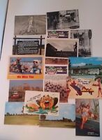 Vintage POSTCARD LOT CHROME UNPOSTED VARIOUS PLACES SCENERY BUILDINGS