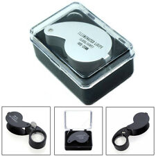 40x 25mm Glass LED Light Magnifying Magnifier Jeweler Eye Jewelry Loupe Loop Hot