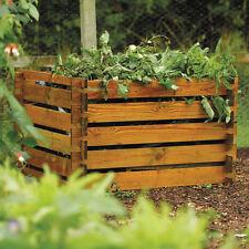 FSC Wooden Compost Bin Garden Waste Composting Wood Bins Organic Disposal