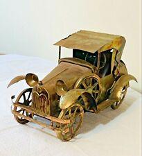 Vintage Copper Tin Antique Car Music Box